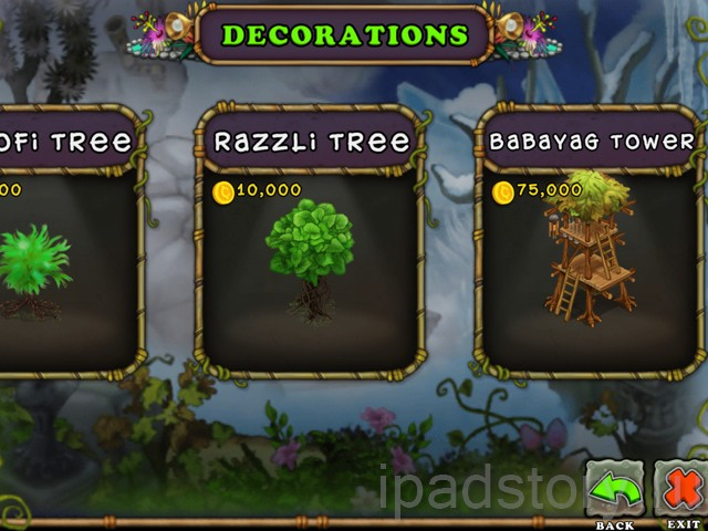 My Singing Monsters на iPad - отдел Decorations